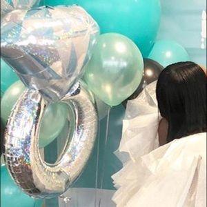Platinum Silver Diamond Ring 38 Inch Foil Balloon